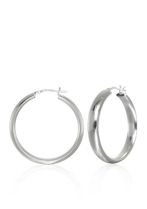 Belk & Co. Hoop Earrings in Sterling Silver