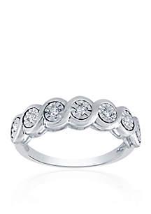 0.10 ct. t.w. Diamond Bezel Ring in Sterling SIlver