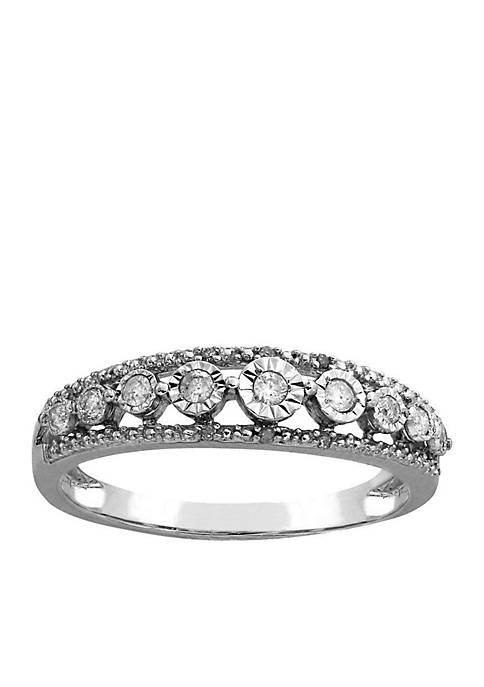 Belk & Co. Sterling Silver Diamond Ring