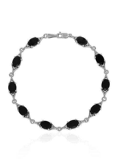 Belk & Co. Onyx Cushion Cut Bracelet in