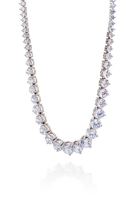 Belk & Co. Cubic Zirconia Necklace in Sterling