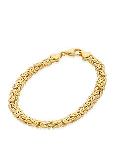 Belk & Co. 10k Yellow Gold Byzantine Bracelet
