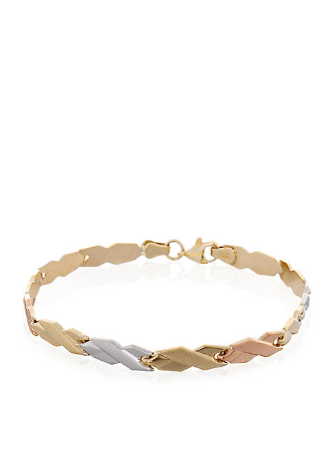 Belk & Co. Tricolor 10K Yellow Gold, White
