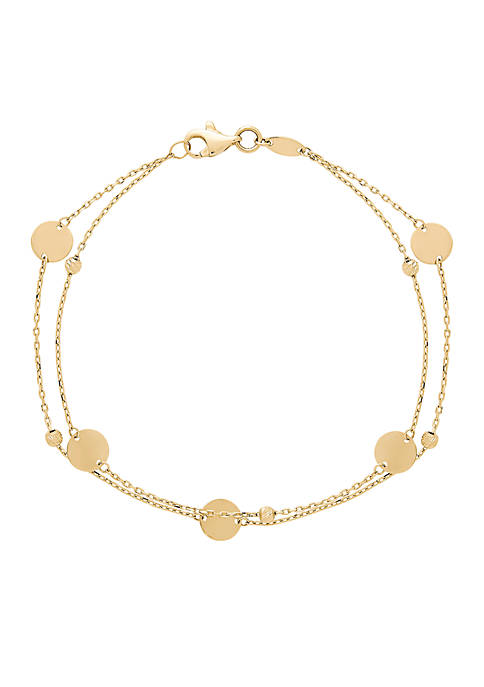 Belk & Co. 2 Row Disc Bracelet in