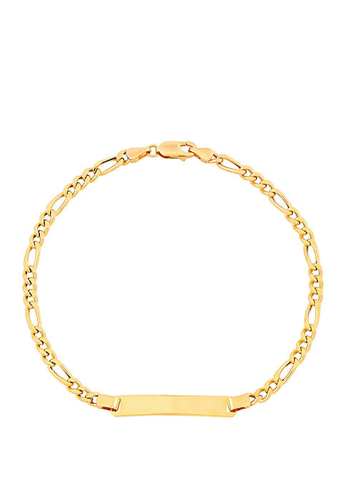 Belk & Co. Bar Figaro Bracelet In 10k
