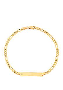 Belk & Co. Bar Figaro Bracelet In 10k Yellow Gold