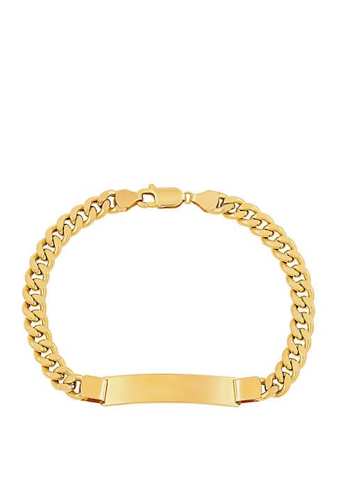 Bar Chain Bracelet in 10k Yellow Gold