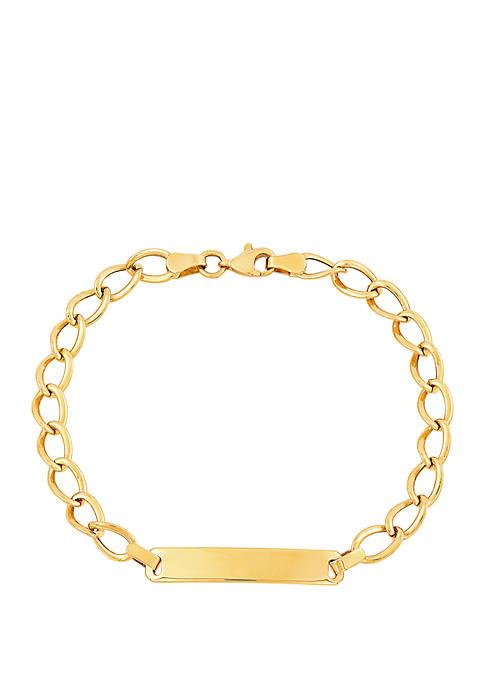 ID Link Bracelet in 10K Yellow Gold