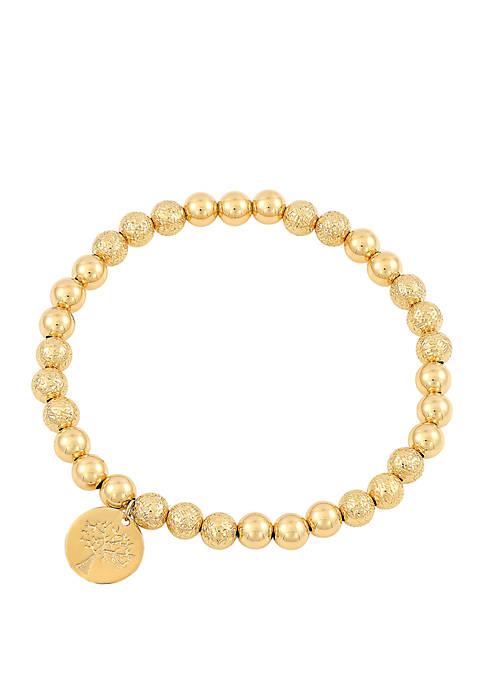 Beaded Bracelet In 10k Yellow Gold