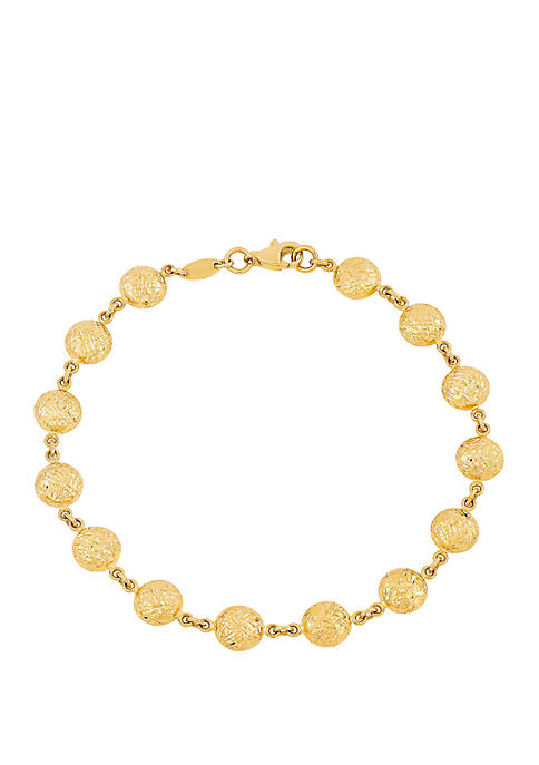 Beaded Bracelet in 10K Yellow Gold