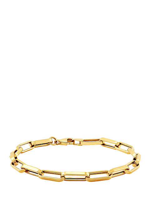 Oval Link Bracelet in 10k Yellow Gold