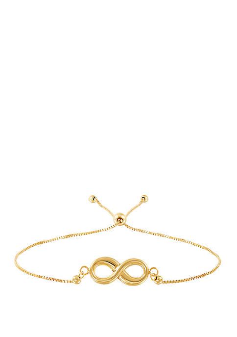 Infinity Bracelet in 10k Yellow Gold