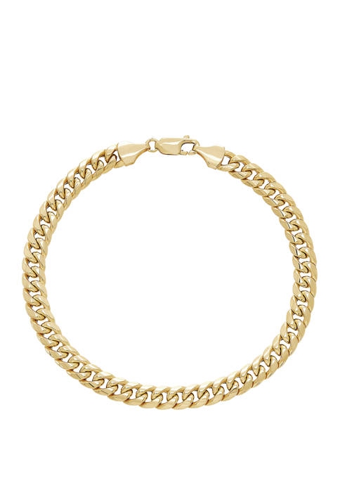 Belk & Co. Cuban Bracelet in 10K Gold