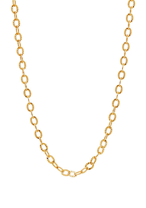 Link Chain Necklace In 10k Yellow Gold