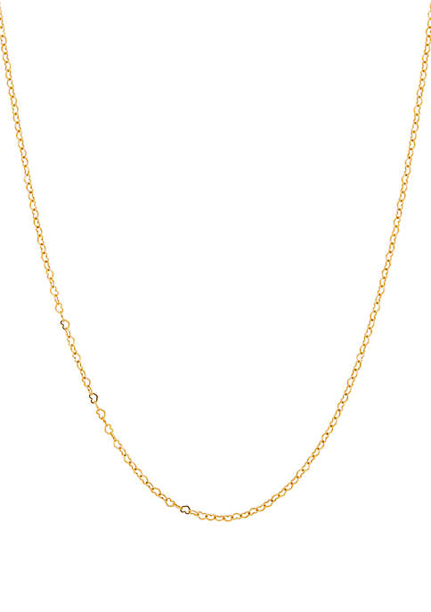 Heart Link Chain Necklace in 10K Yellow Gold