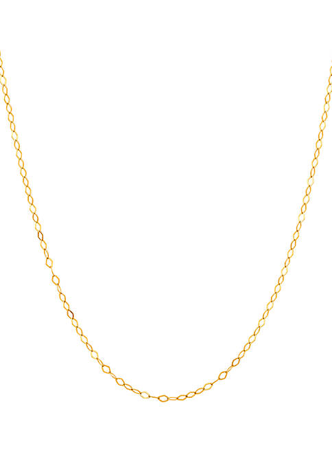 Belk & Co. Flat Link Chain Necklace in