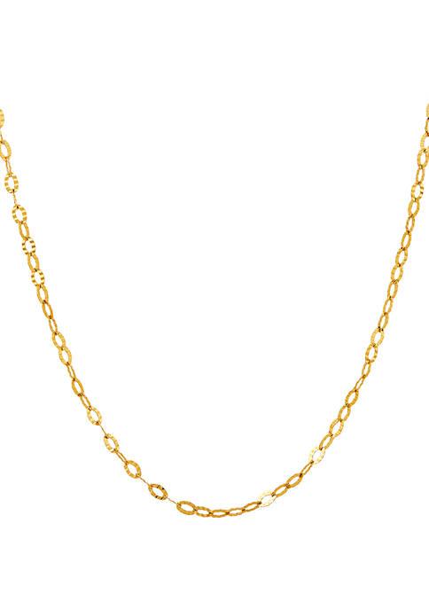 Belk & Co. Flat Chain Necklace in 10k