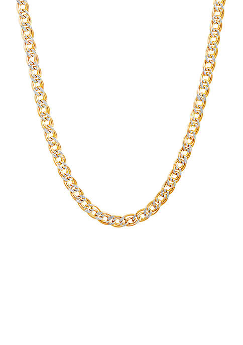 Belk & Co. Diamond Cut Chain Necklace in