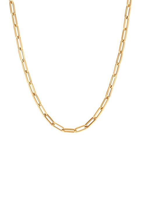 Belk & Co. 18 Inch Paper Clip Chain