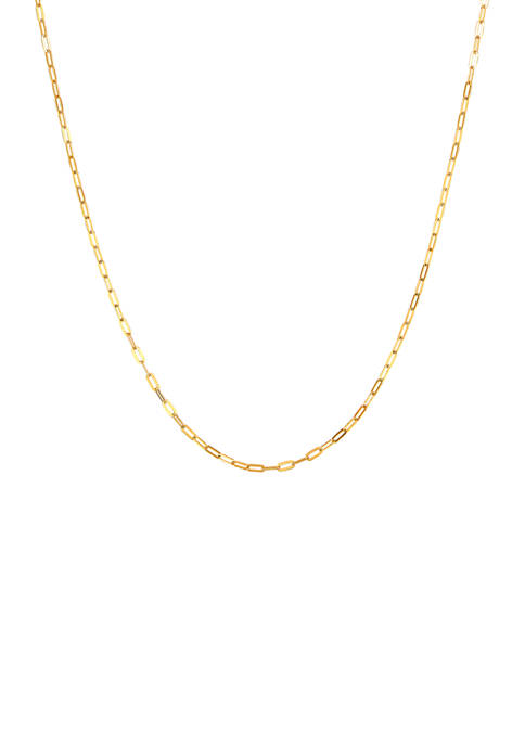 18 Inch Chain Necklace in 10K Yellow Gold