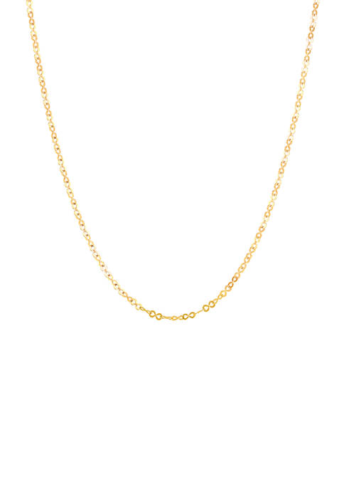 18 Inch Link Chain in 10K Yellow Gold