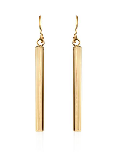 Belk & Co. Polished Square Tube Drop Earrings