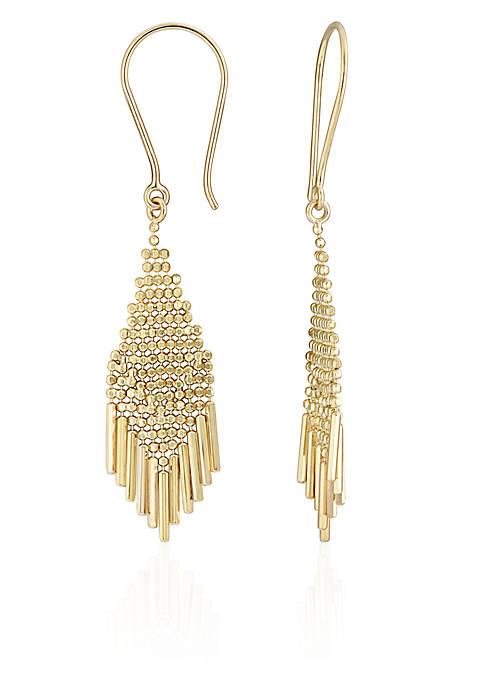 Belk & Co. 10k Yellow Gold Fringe Earrings