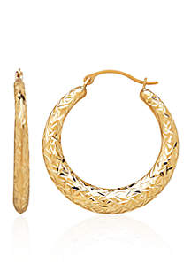 Hoop Earrings in 10K Yellow Gold