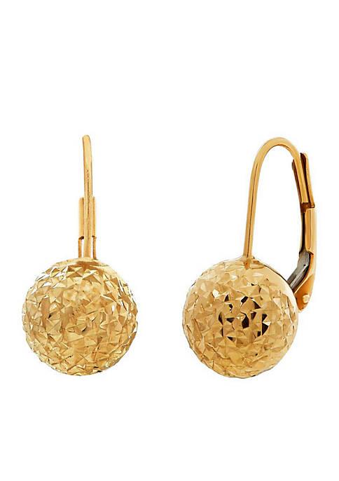 Belk & Co. 10K Gold Drop Earrings