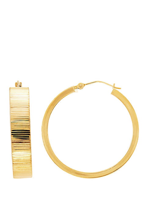 Belk & Co. Ribbon Cut Hoop Earrings in