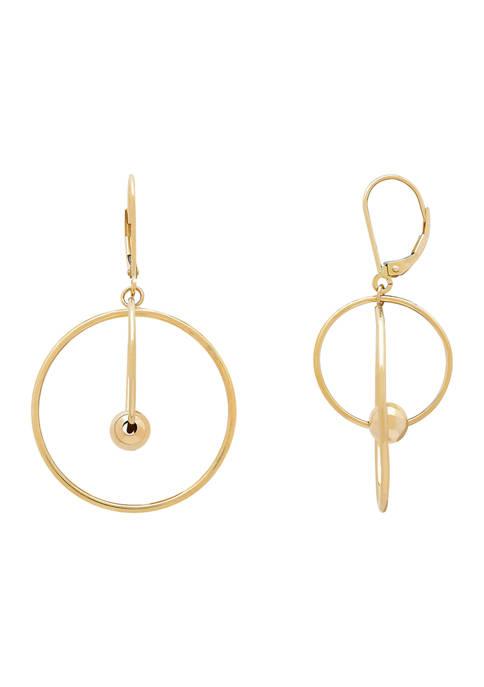 Belk & Co. Geometric Hoop Earrings in 10K
