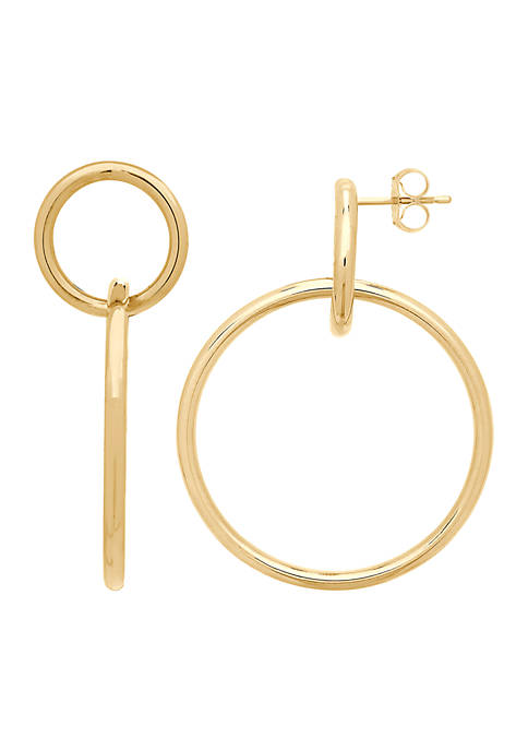 Belk & Co. Polished Interlocking Circle Earrings in
