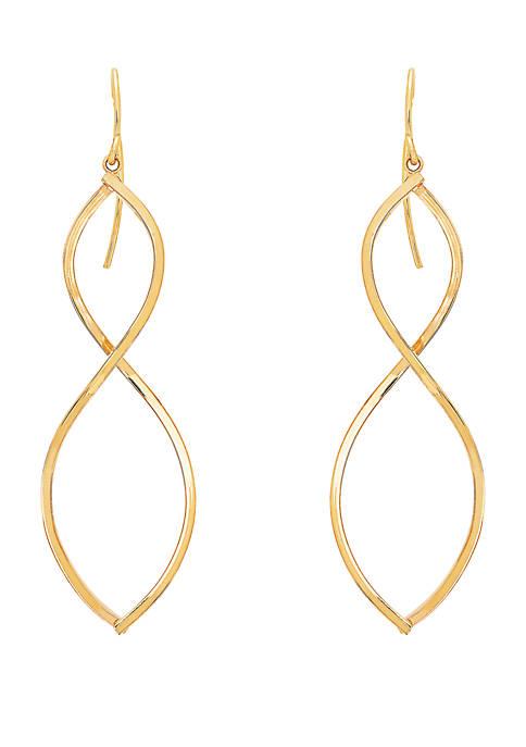 Belk & Co. Drop Earrings in 10k Yellow