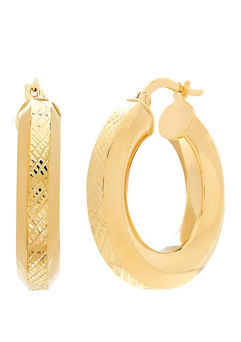 Belk & Co. 10K Yellow Gold Domed Hoop