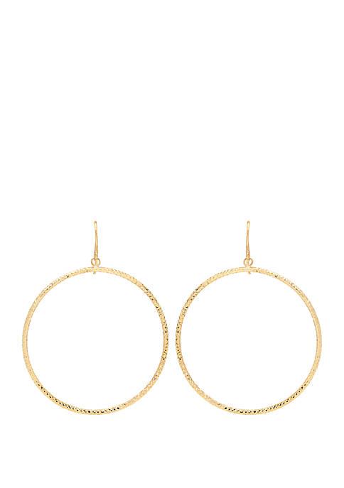 Belk & Co. 10k Yellow Gold Circle Hoop