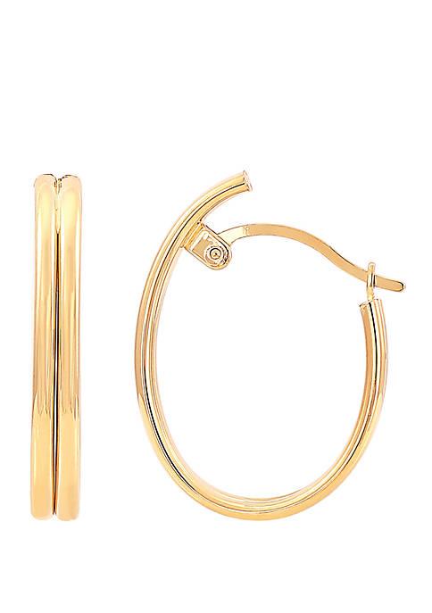 Belk & Co. Oval Hoop Earrings in 10k