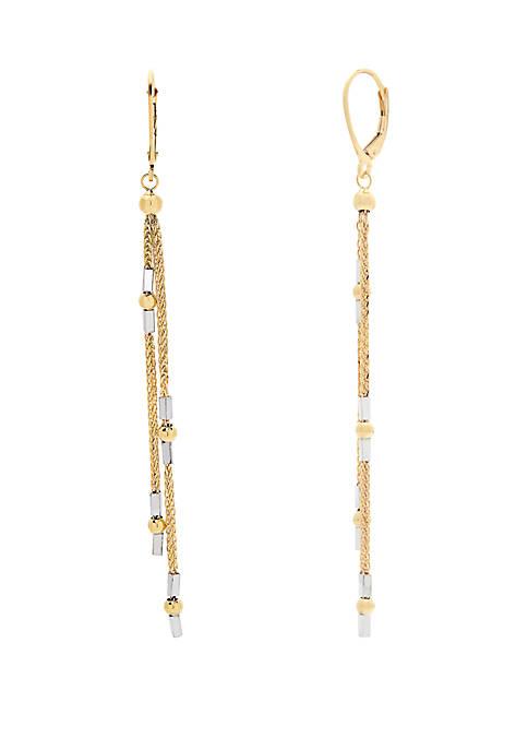 Belk & Co. 10K Yellow Gold Earrings with