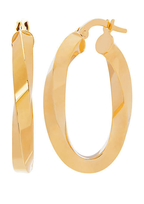 Belk & Co. 10K Yellow Gold Wavy Hoop