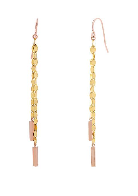 Belk & Co. 10K Yellow Gold Drop Earrings