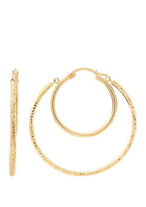 Belk & Co. Double Hoop Earrings in 10k