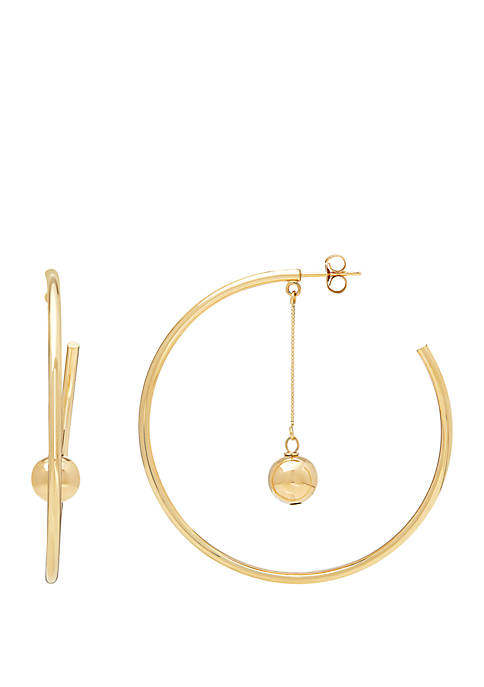 Belk & Co. Hoop Earrings in 10k Yellow