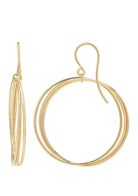 Belk & Co. Circle Earrings in 10k Yellow