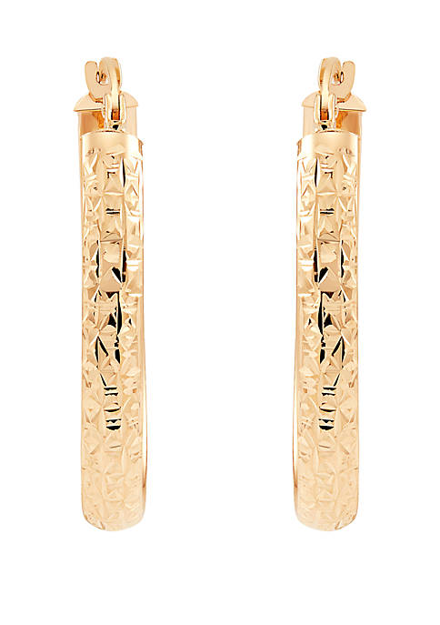 Oval Earrings in 10k Yellow Gold