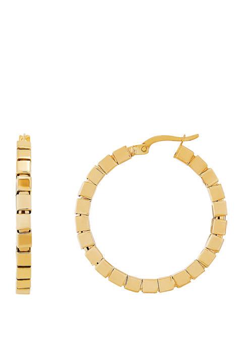 Belk & Co. Square Hoop Earring in 10K