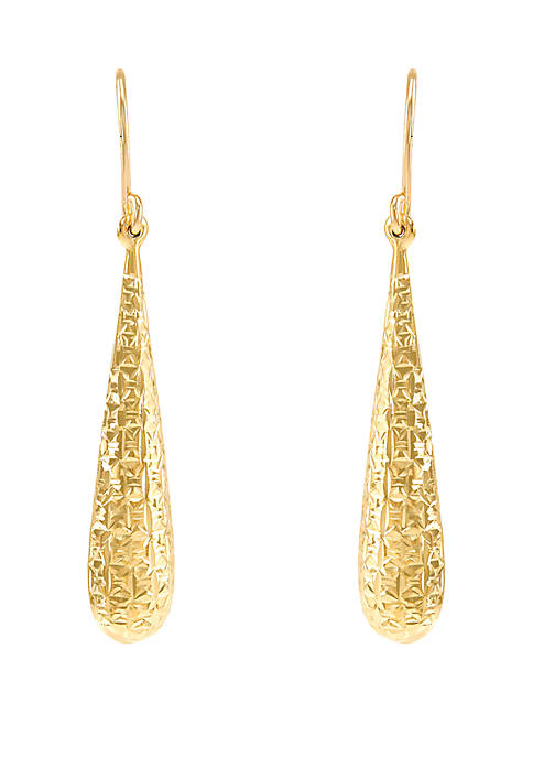 Belk & Co. Drop Earrings in 10k Yellow