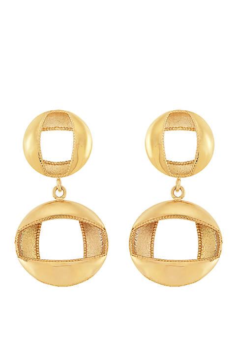 Belk & Co. Double Circle Drop Earrings