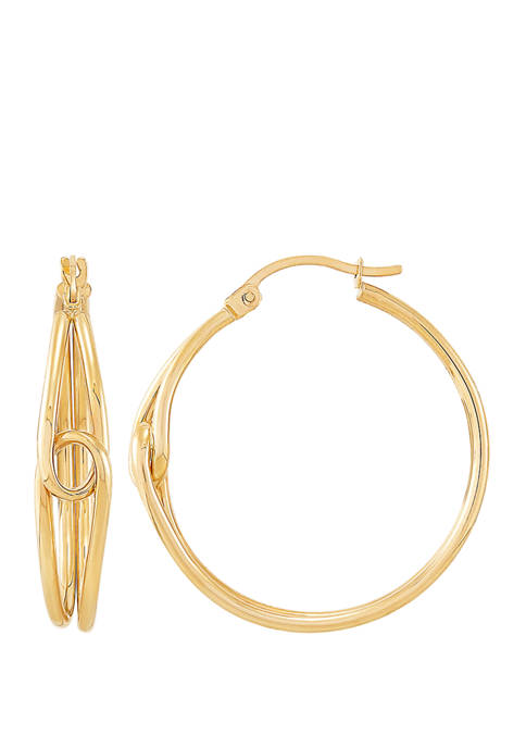 Belk & Co. Hoop Earrings in 10K Yellow