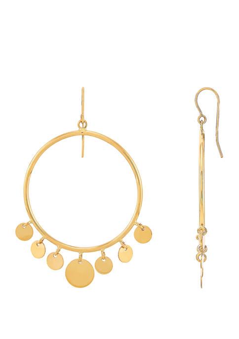 Belk & Co. Circle Disk Earrings in 10K