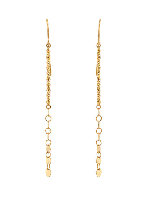 Dangle Earrings in 10k Yellow Gold