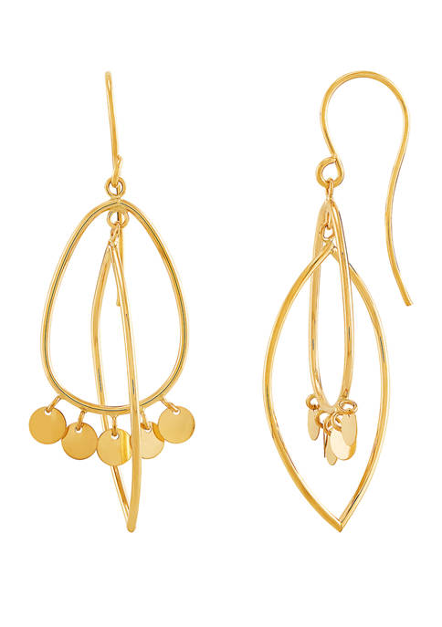 Belk & Co. Dangle Disc Earrings in 10K